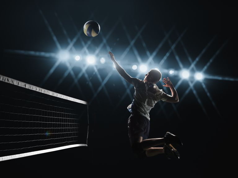 Man playing volleyball