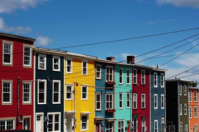 Colorful row houses of Newfoundland
