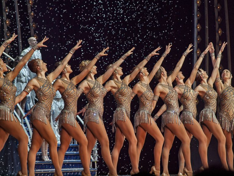 The Rockettes performing their Christmas show at Radio City Music Hall.