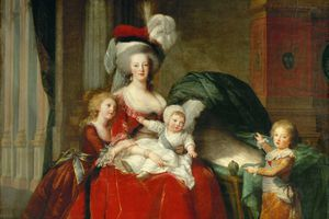 Painting of Marie Antoinette with her children