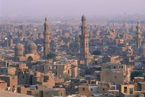 Egypt, Cairo, Old City, elevated view