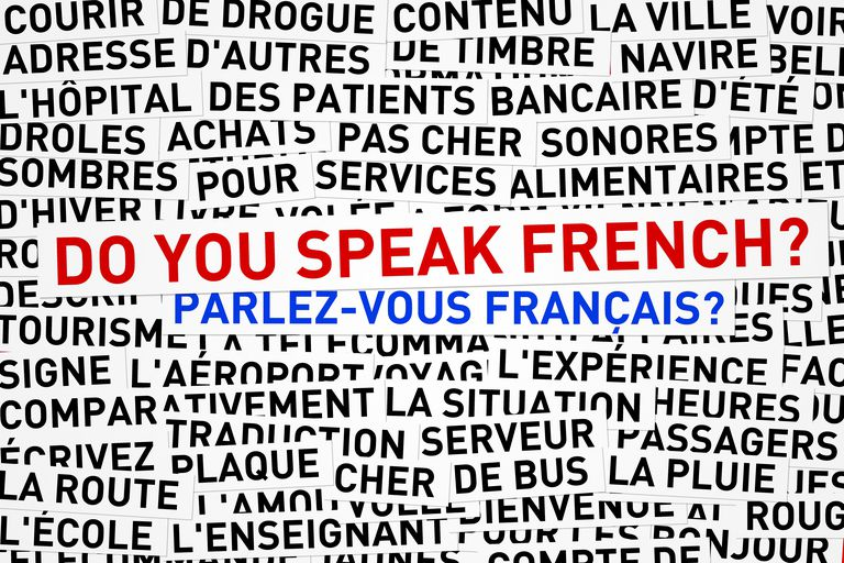 Words in French with English words do you speak French