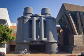 Binoculars in Venice, California: Building or Sculpture?