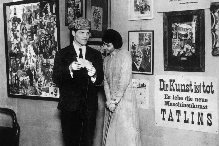 Hannah Hoch and Raoul Hausmann at 1920 International Dada Fair