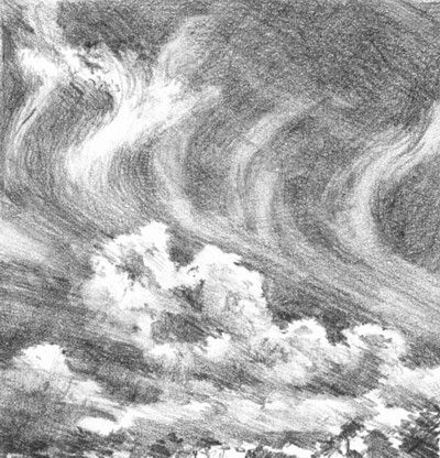 Sketch Lesson: How to Draw Clouds in Pencil