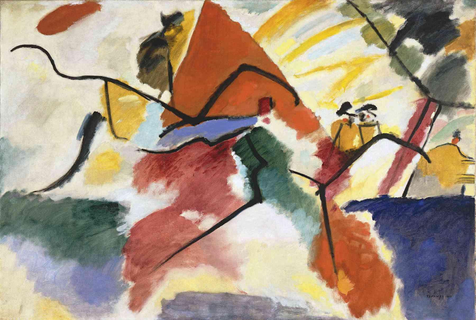 Wassily Kandinsky (Russian, 1866-1944) Wassily Kandinsky (Russian, 1866-1944). Impression V (Park), March 1911. Oil on canvas. 41 11/16 x 62 in. (106 x 157.5 cm). Gift of Nina Kandinsky, 1976. Musée national d'art moderne, Centre Pompidou, Paris.