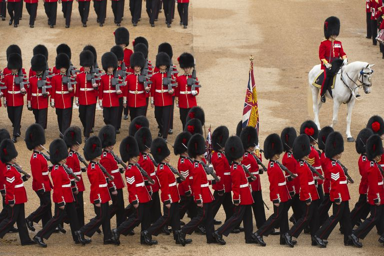 The Coldstream Guards, the oldest regiment in continuous active service