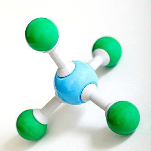 Model of atoms/molecules.