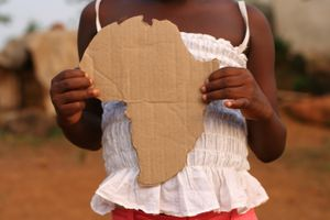 Girl With Africa Cut-Out