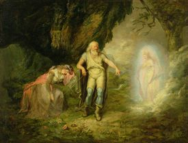 Miranda, Prospero and Ariel, from 'The Tempest' by William Shakespeare, c.1780 (oil on canvas)