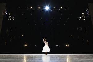 Ballerina on a stage
