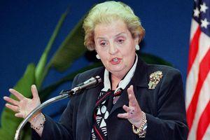 US Secretary of State Madeleine Albright