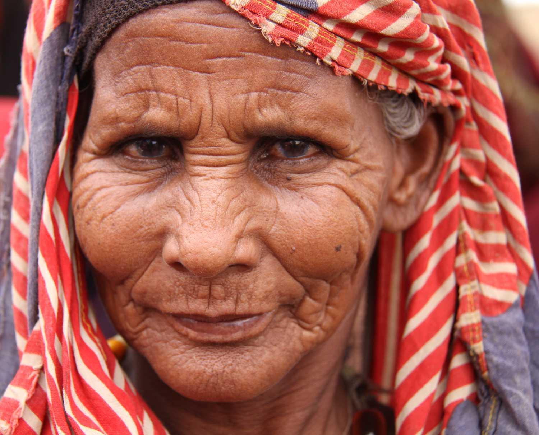 An elderly Somali woman
