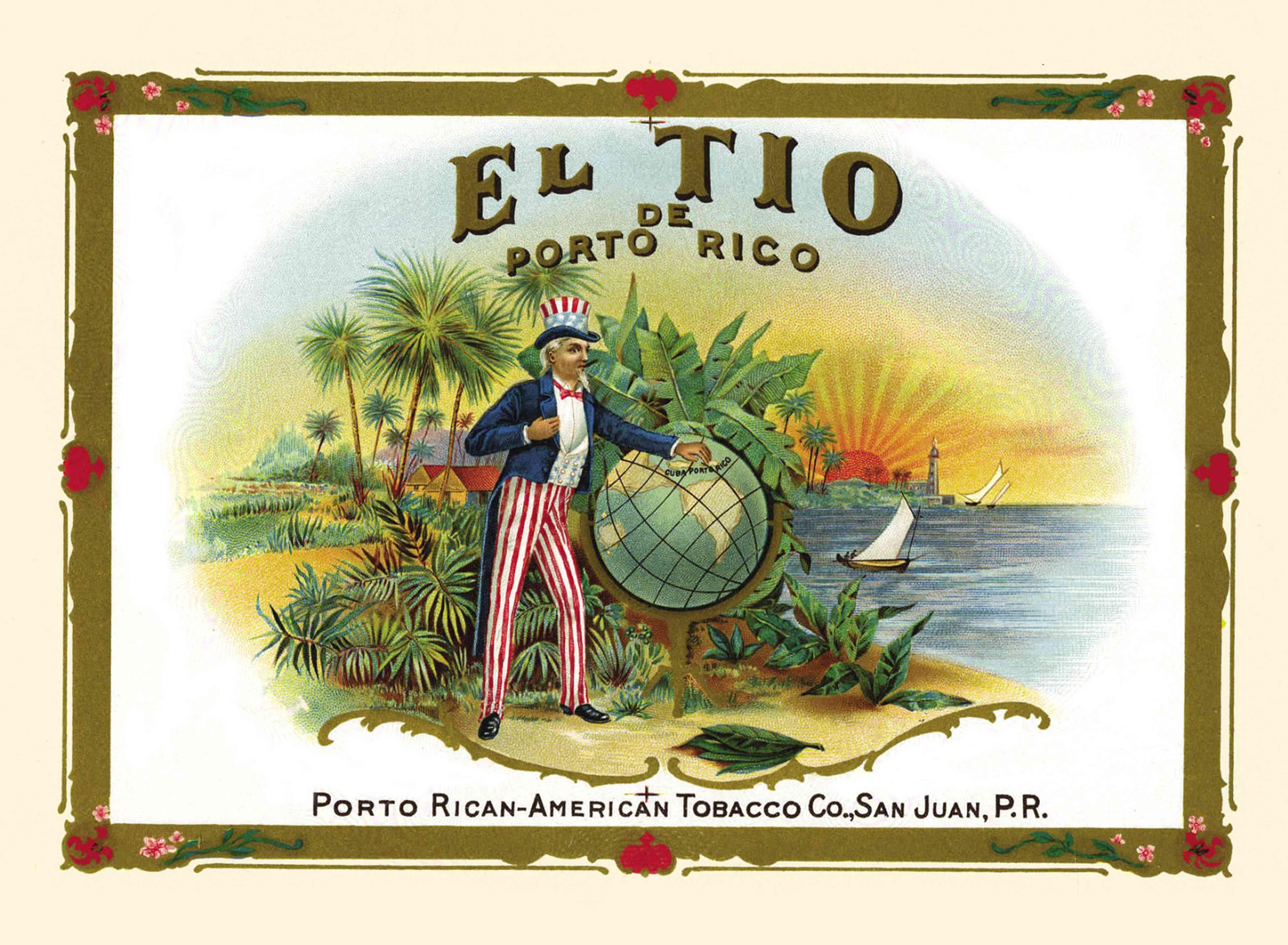 Cartoon depicting Uncle Sam, Puerto Rico's