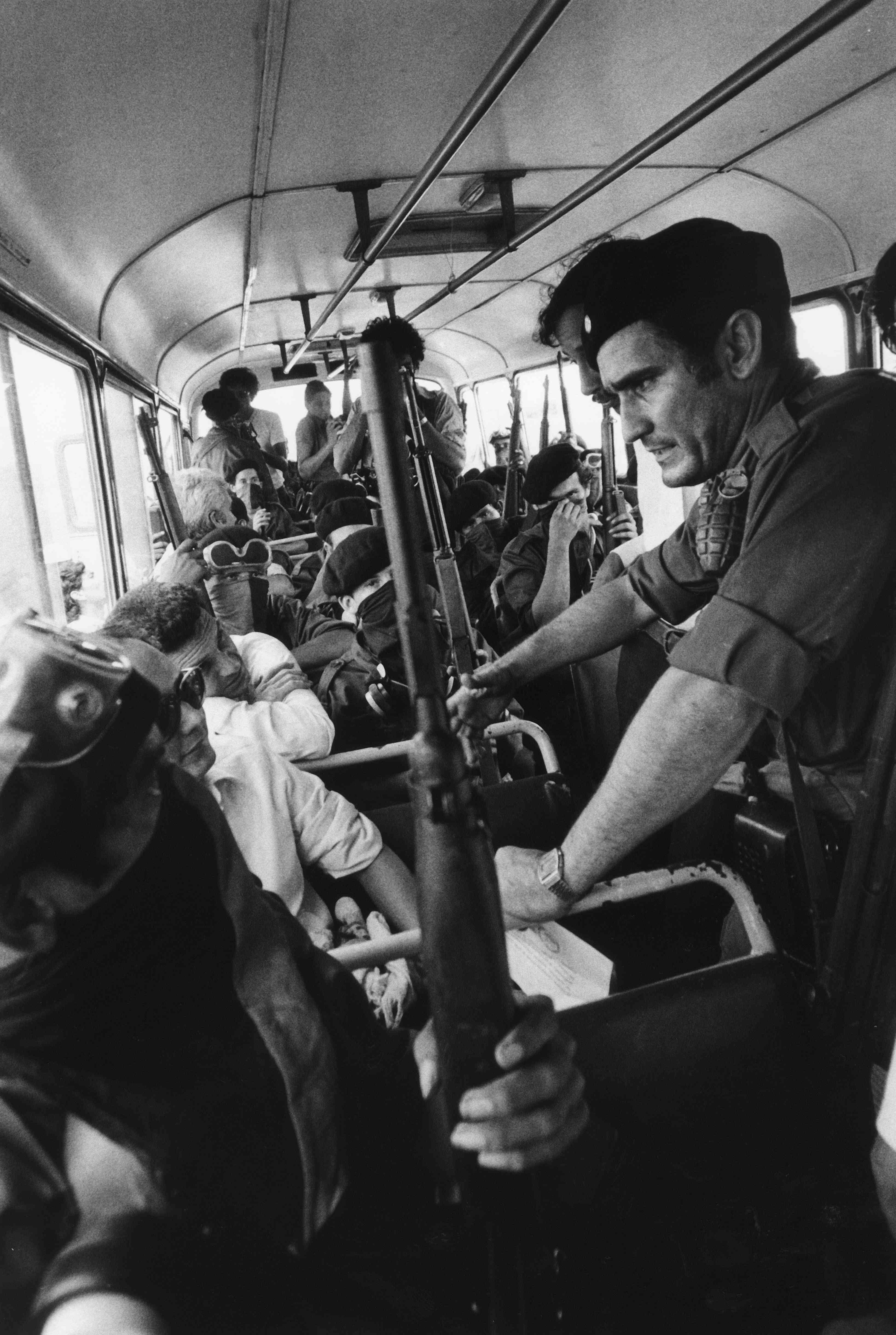 Sandinistas after taking hostages, 1978