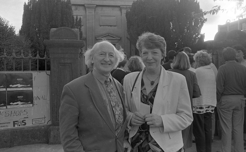 Michael Higgins and Sabina at Nun's Island, Gaway