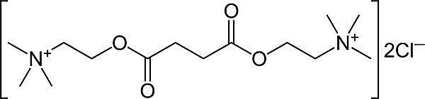 Esta es la estructura química del cloruro de suxametonio.