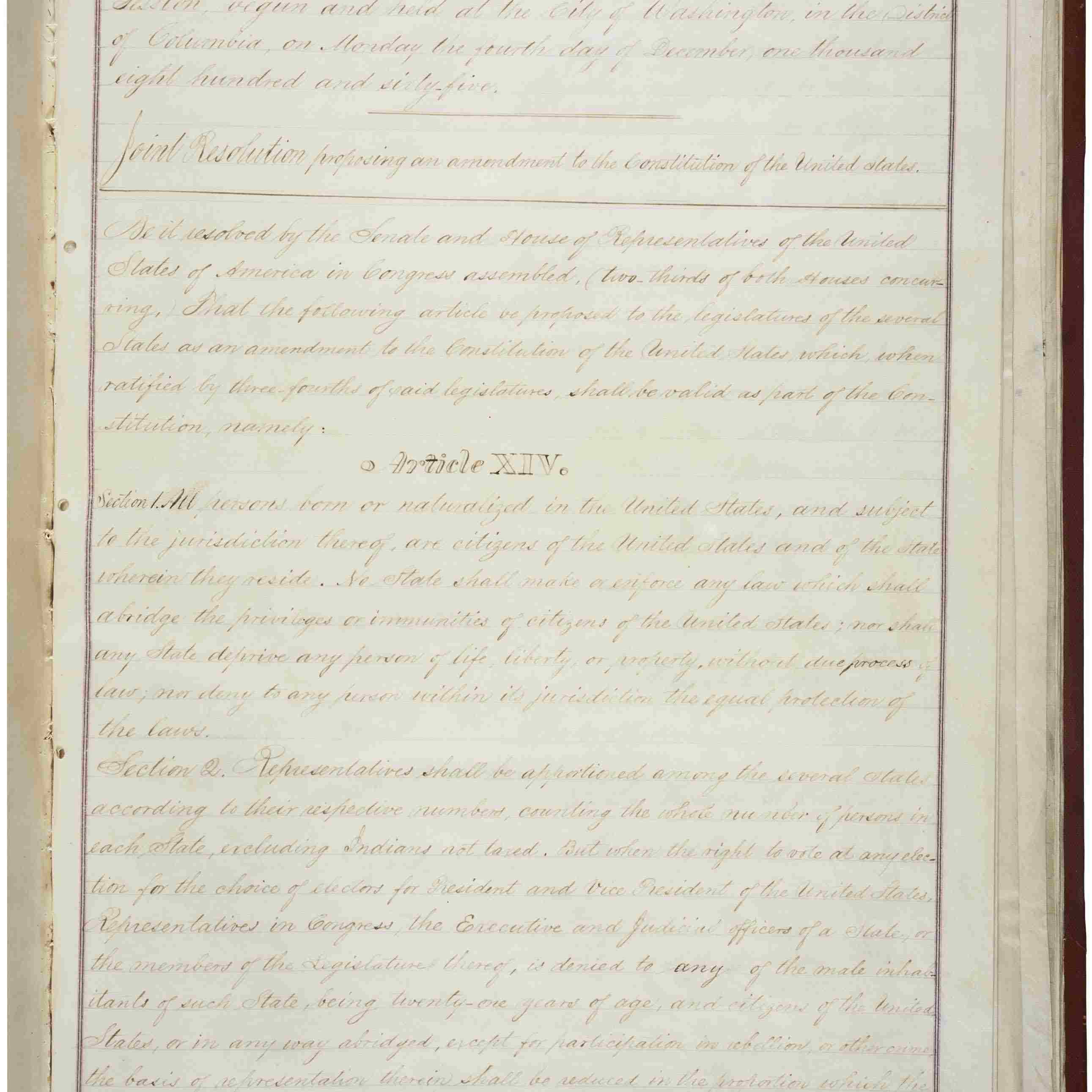 The 14th Amendment To The Us Constitution