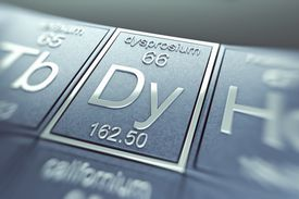 Dysprosium is a rare earth element. It is a solid metal at room temperature.