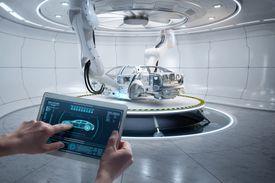 Industry 4.0 car frame - landscape
