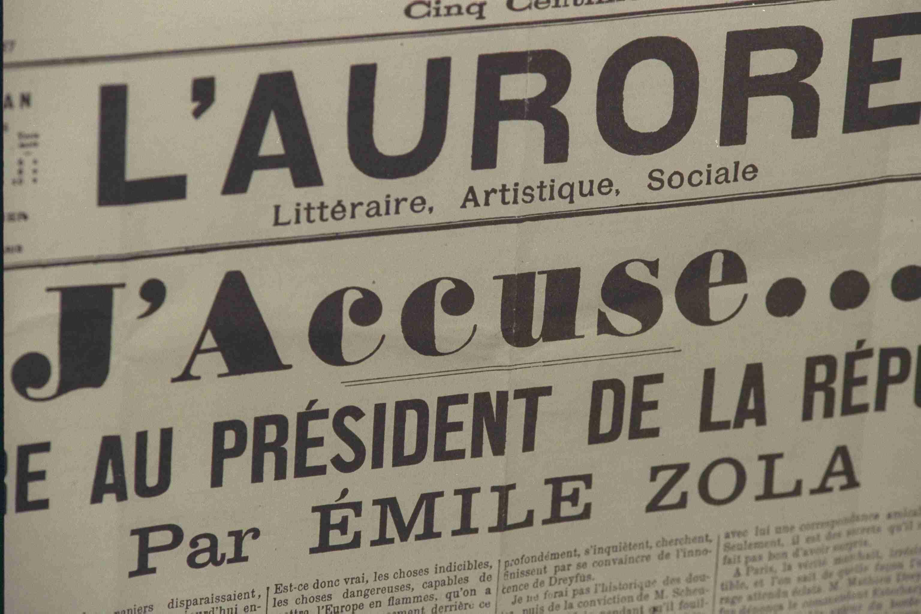 DREYFUS AFFAIR : 'J'ACCUSE?!' BY EMILE ZOLA