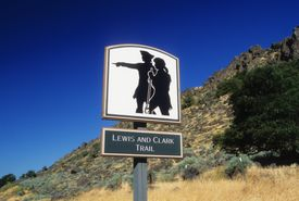 Lewis and Clark Trail road sign