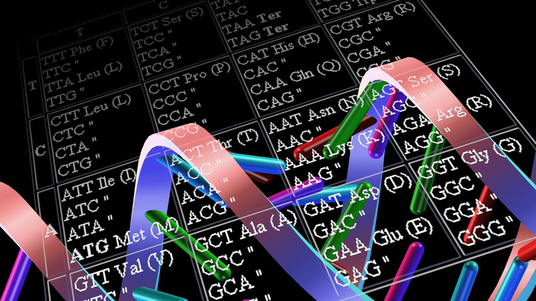 Table Of Mrna Codons And Properties The Genetic Code