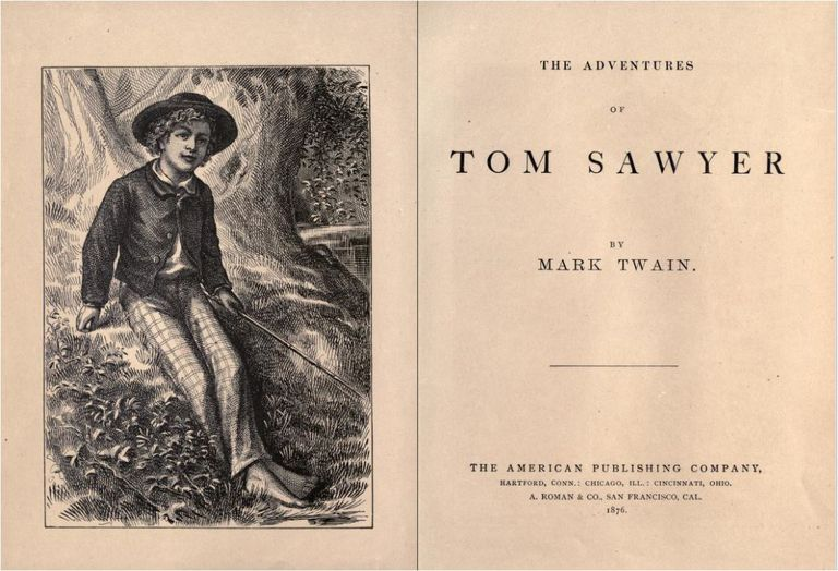 """The Adventures of Tom Sawyer"" title page."