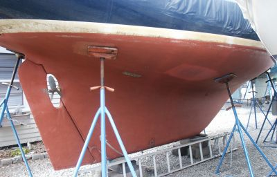 Sailboat Full Keel Rudder