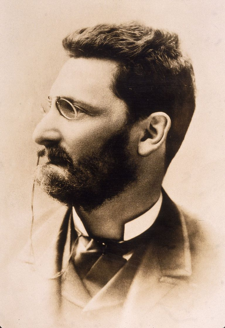 Profile portrait of Joseph Pulitzer
