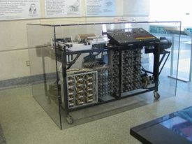 The first all-electric computer, now in a museum