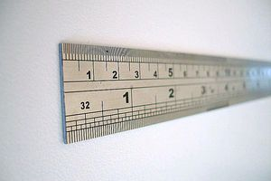 Many everyday objects are made from steel, such as this ruler.