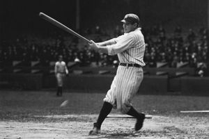 Babe Ruth at the plate