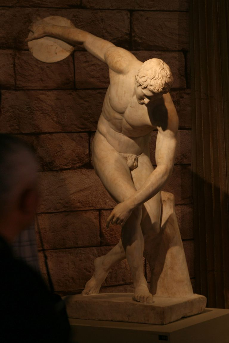 """Marble Statue of a Discus-thrower,"" aka Discobolus"