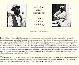 American Slave Narratives: An Online Anthology