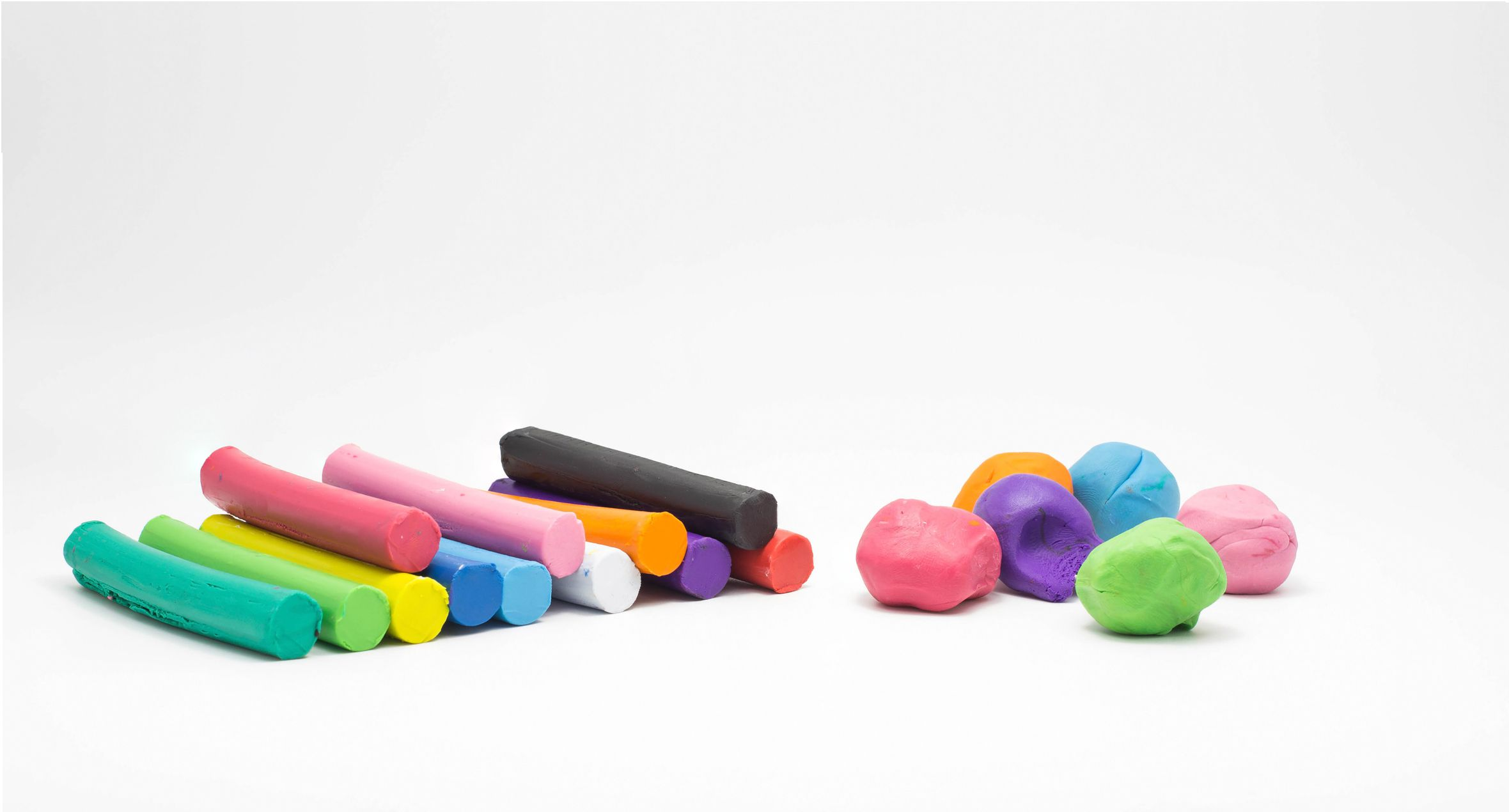 different colored putty and play-doh
