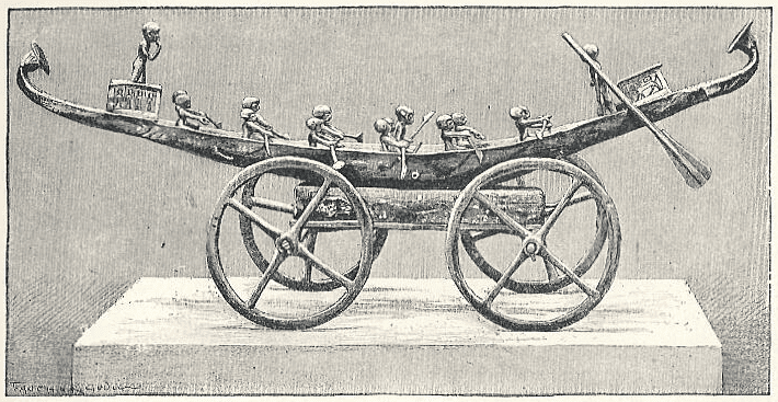 Illustration of a Votive Barque Attributed to Kamose