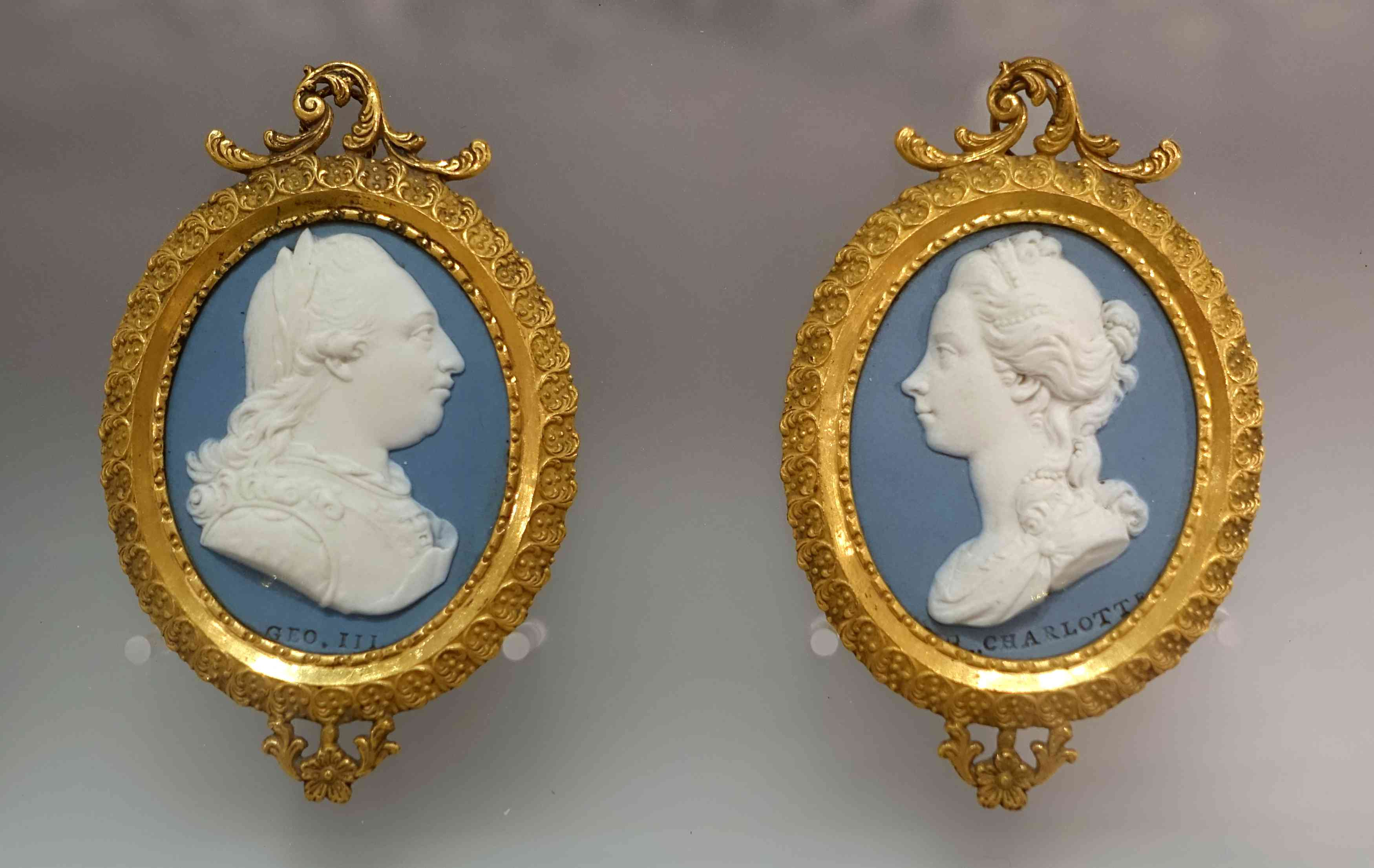 Wedgwood Cameo of British King George III and Queen Charlotte