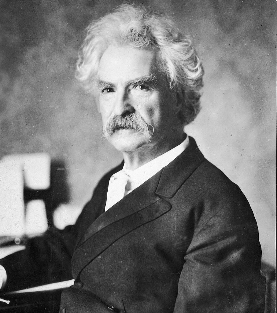 Portrait of Mark Twain (Samuel Clemens)