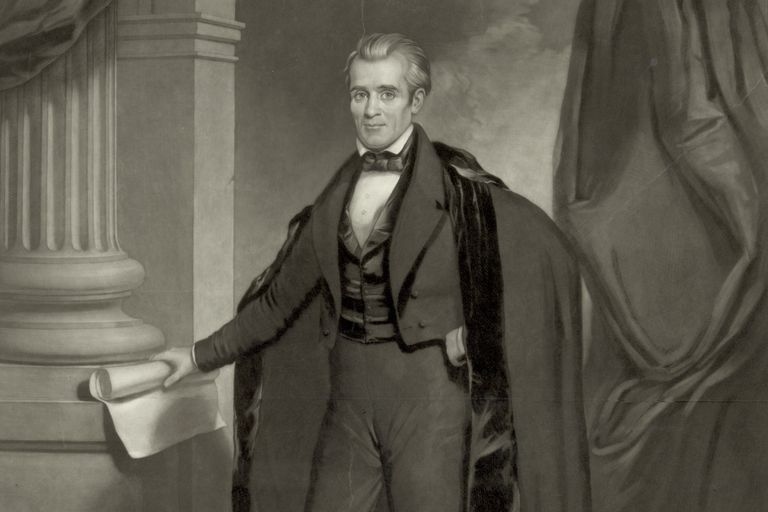 Engraved Portrait of President James K. Polk