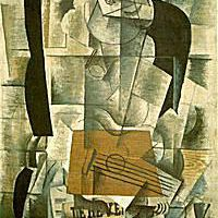 """""""Woman with a Guitar"""" - Georges Braque"""