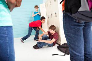 Kids fighting in school