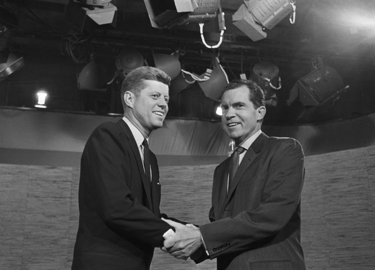 JFK and Nixon post debate