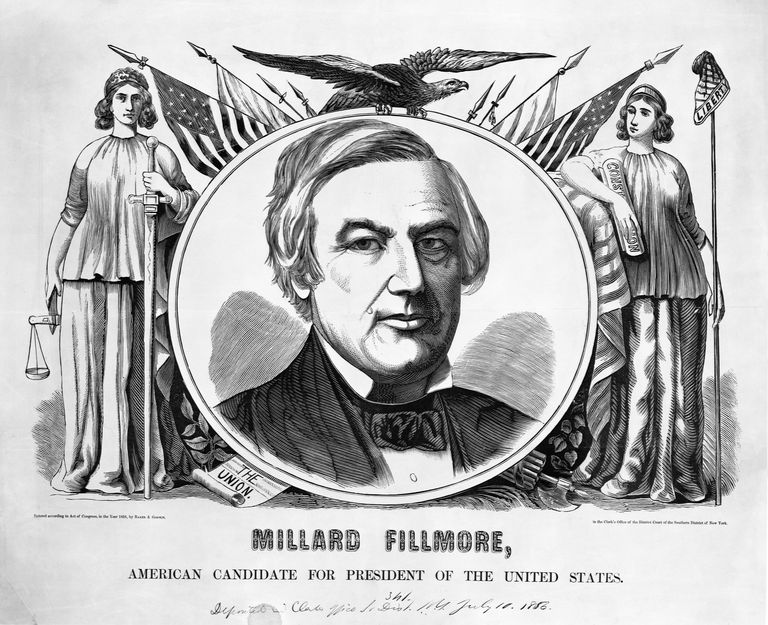 Portrait of Millard Fillmore From 1856 Campaign