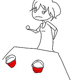 Facebook image of beer pong