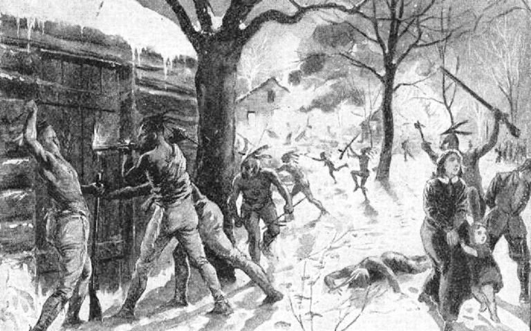 Sketch of the Deerfield Raid of 1704.