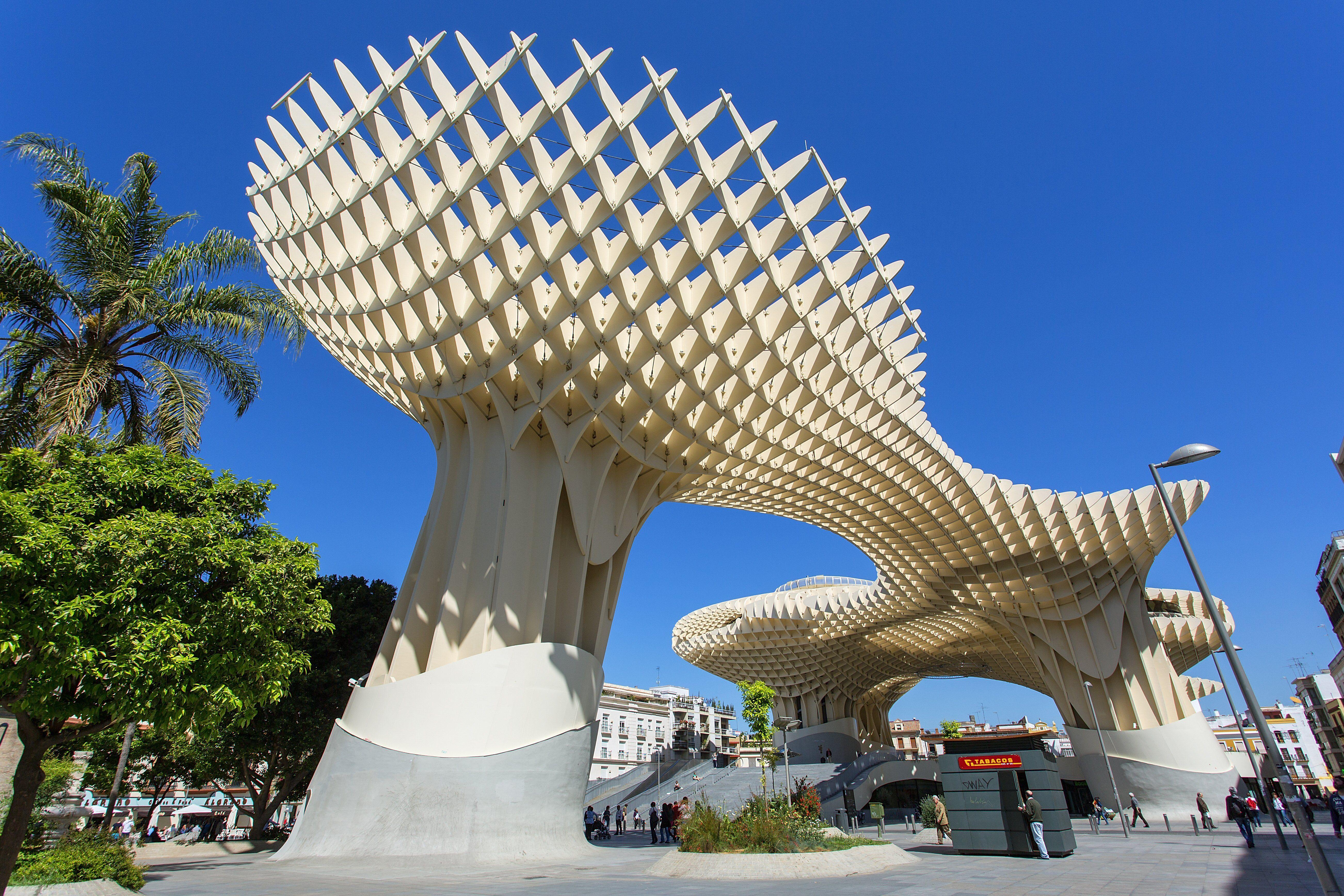 Wooden sculpture-park designed by German Jürgen Mayer-Hermann for Seville, Spain, 2011