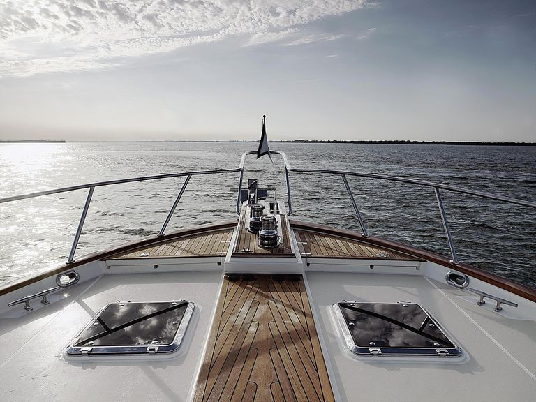 Bow of motoryacht