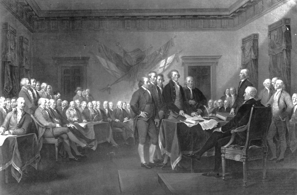 The first Continental Congress is held in Carpenter's Hall, Philadelphia to define American rights and organize a plan of resistance to the Coercive Acts imposed by the British Parliament as punishment for the Boston Tea Party.