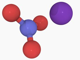This is the chemical structure of potassium nitrate, which is also known as saltpeter.